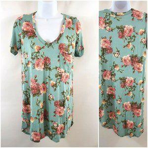 Freeloader Floral Short Sleeve Tunic Shirt
